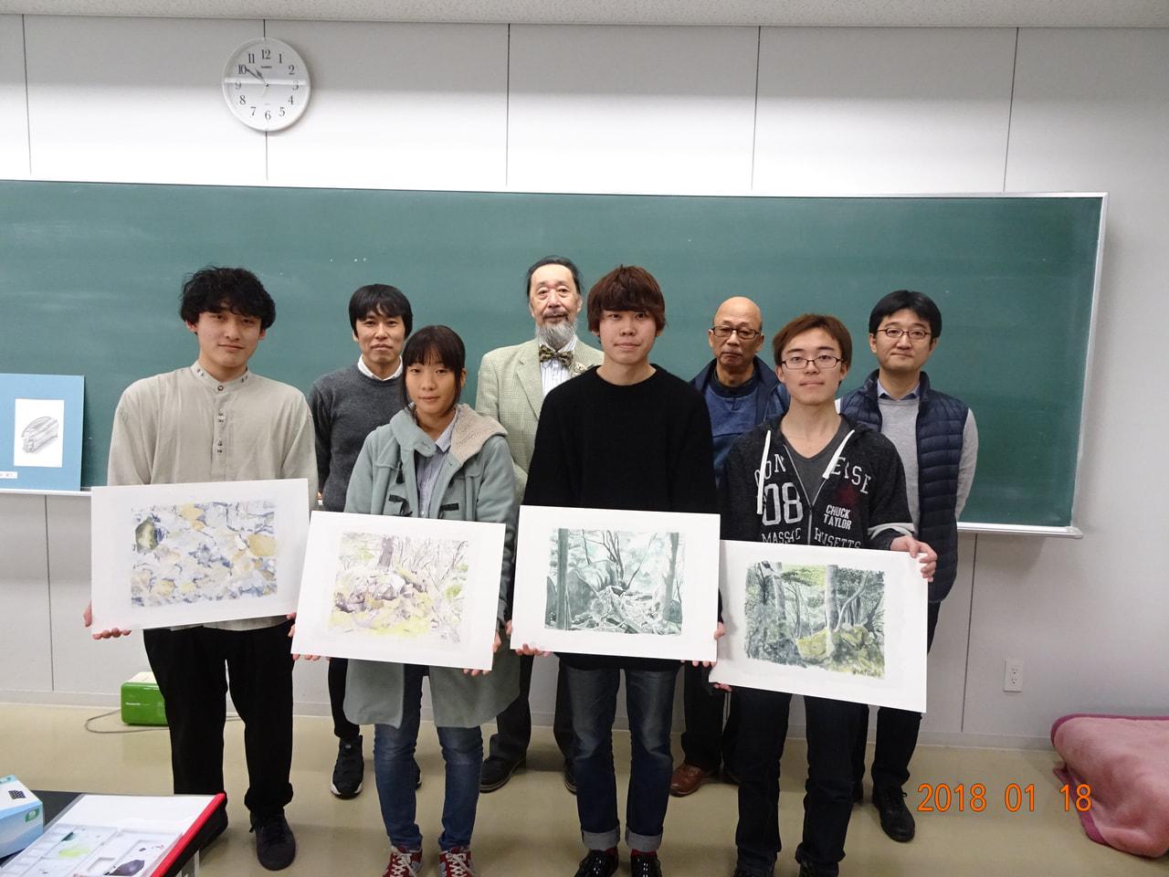 本学科「造形演習I・II」ご担当の井村良裕先生と橋本紀夫先生による最後の演習授業