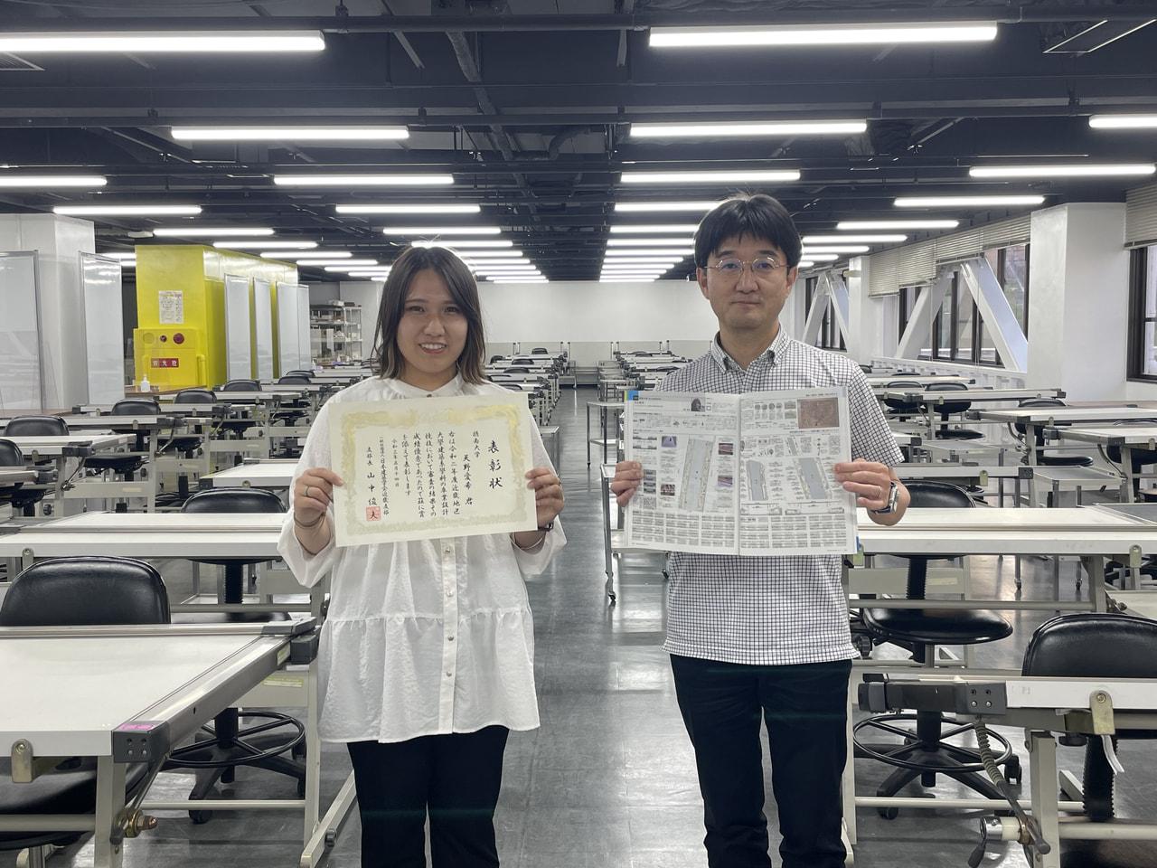 社会開発工学専攻1年 天野愛希さんが「第75回近畿地区大学建築系学科卒業設計コンクール」で入選しました