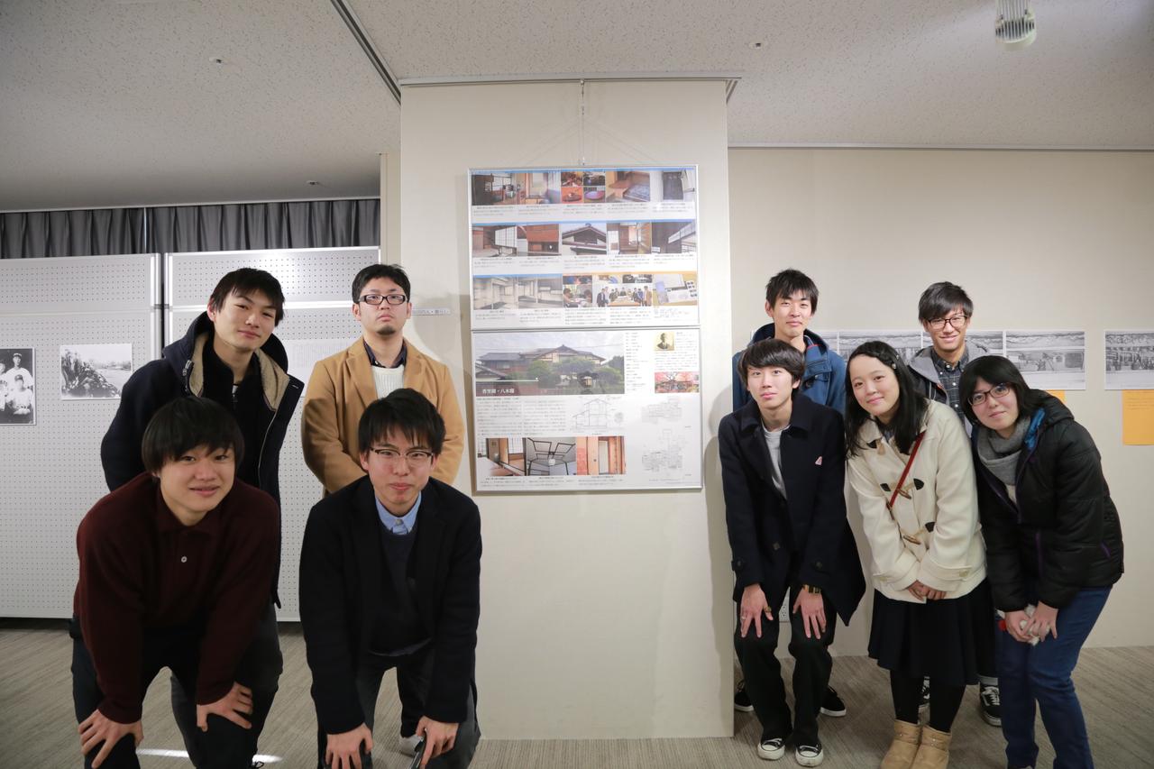 都市文化共生デザイン研究室3年生が「寝屋川市明治150周年記念事業パネル展示会」に出品しました